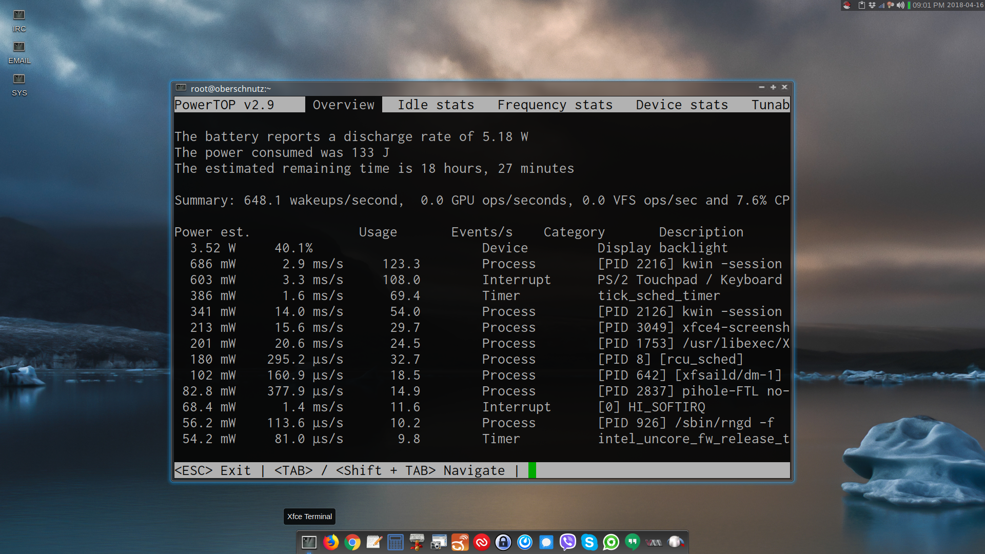 Linux Laptop Power Tuning with Powertop and Friends   hobo house