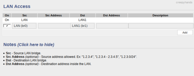 LAN Access Settings