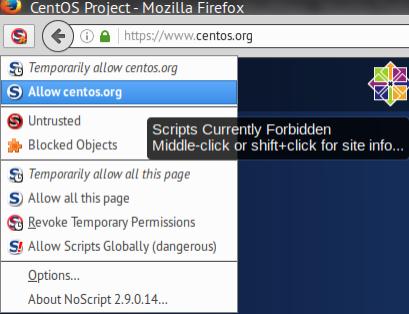 noscript-allow-centos