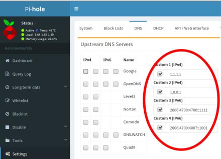 diginc Docker Pi-hole on Alpine base aarch64  QoS priority+